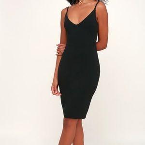 black never worn dress